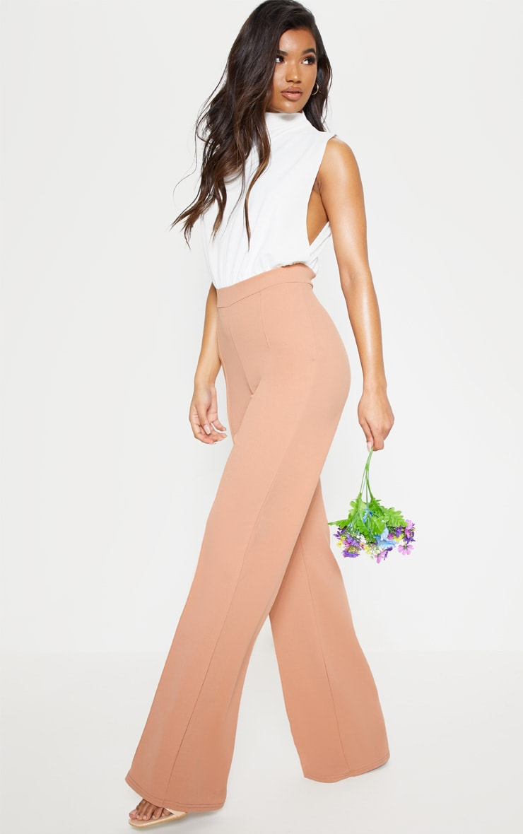 Nude High Neck Wide Leg Jumpsuit 4