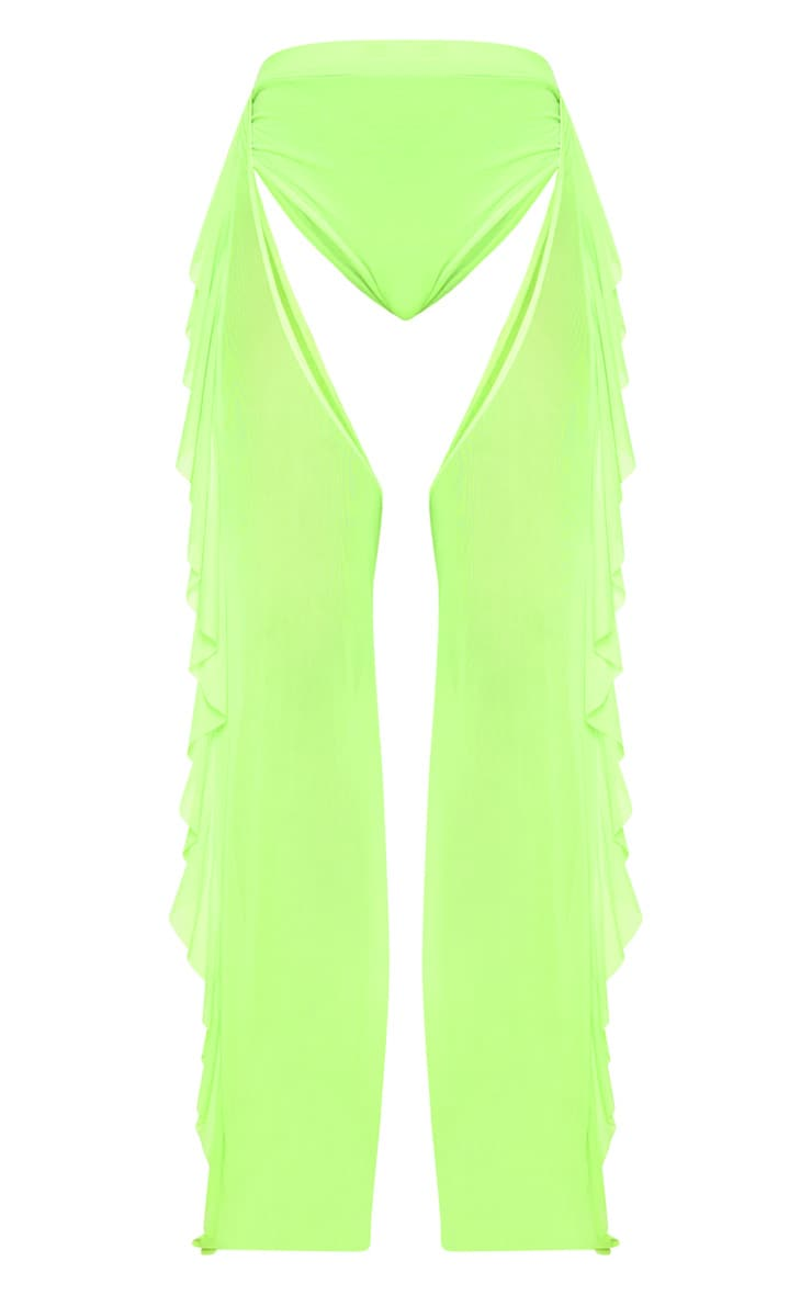 Lime Mesh Chap Trousers 3