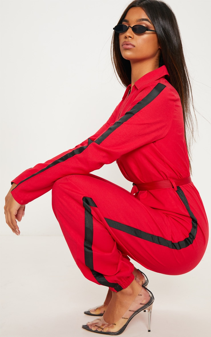 eb036429fcb Red Utility Belted Jumpsuit image 1