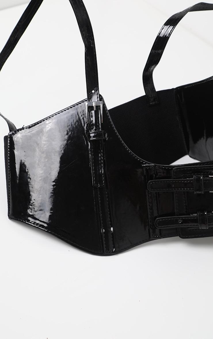 Black PU Corset 3