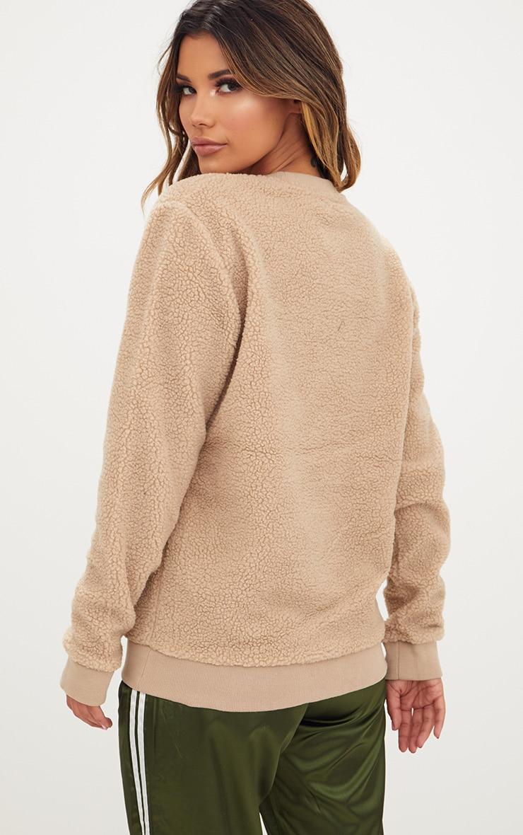 Camel Borg Sweater 2
