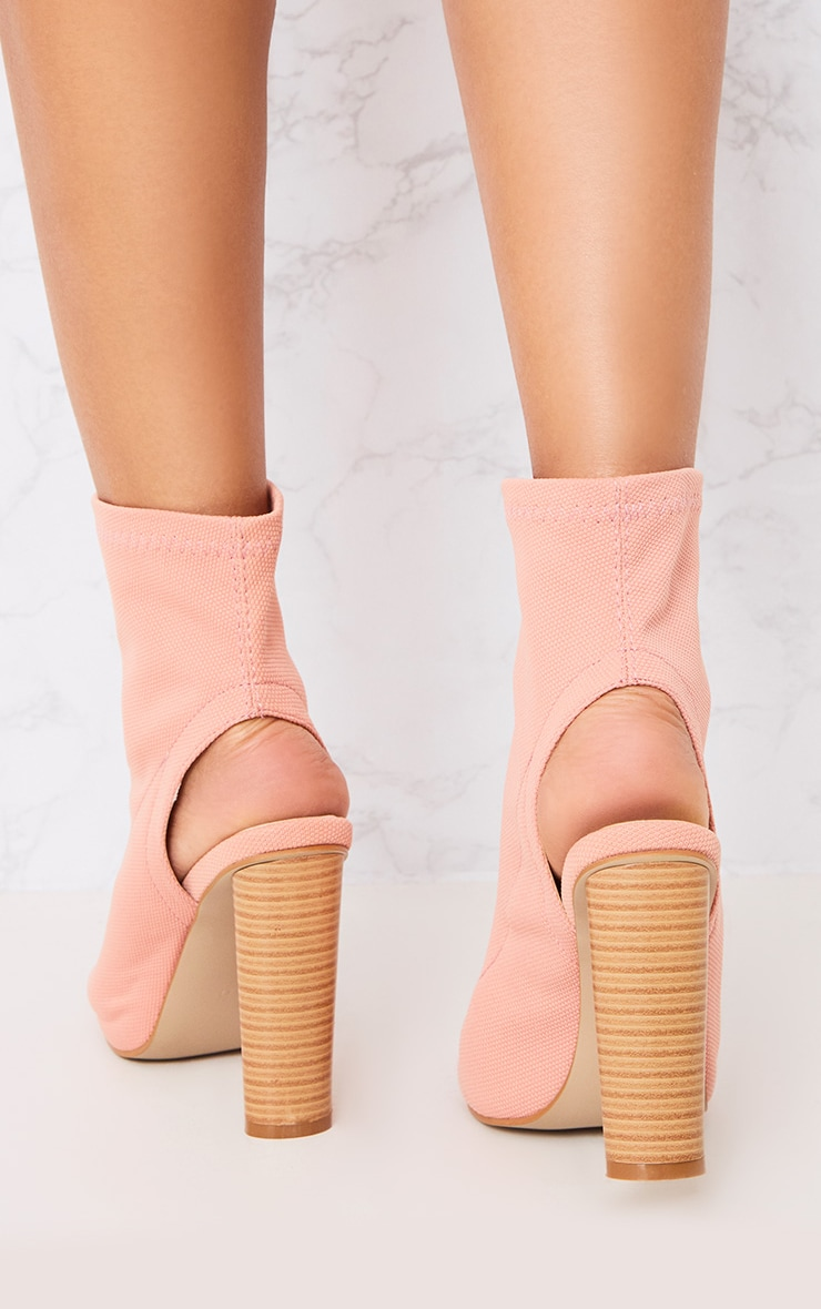 Gebriel Blush Ring Zip Sock Boots 3