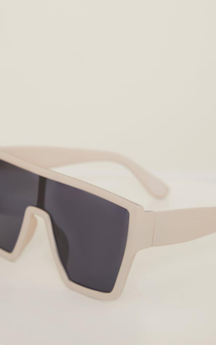 Stone Matte Oversized Square Frame Sunglasses 2
