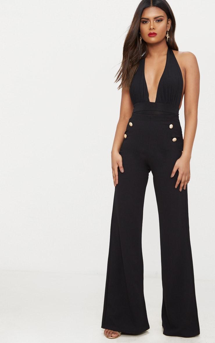 Petite Black Slinky Halterneck Bodysuit 5