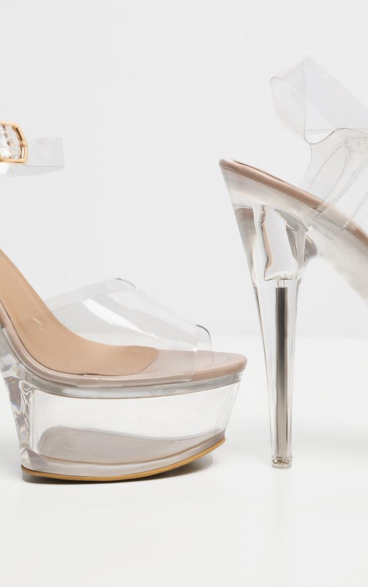 Sandales plateformes très hautes transparentes 5