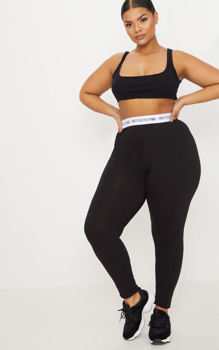 PRETTYLITTLETHING Plus Black Leggings 1