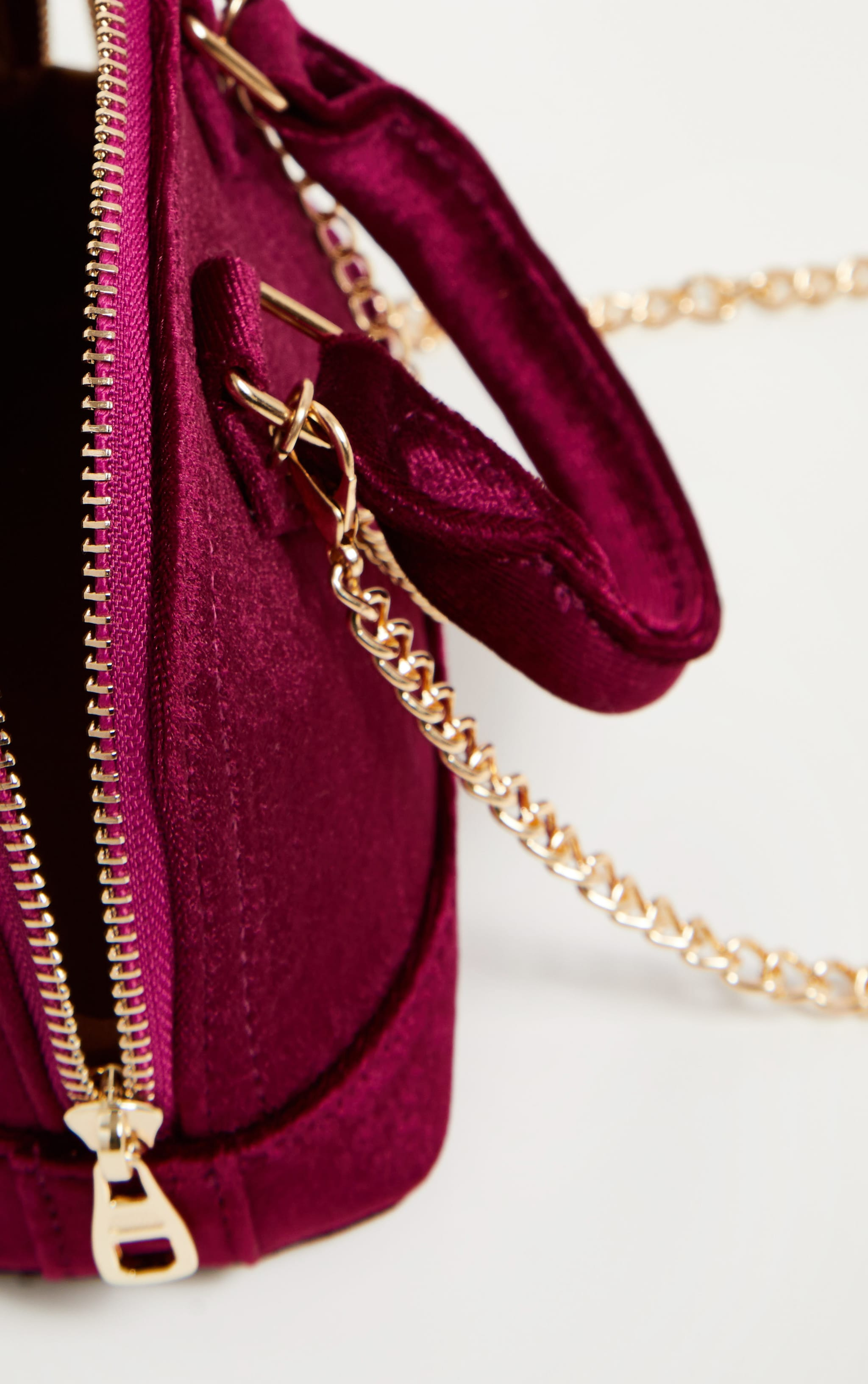 Rose Velvet Chain Trim Mini Bag 5