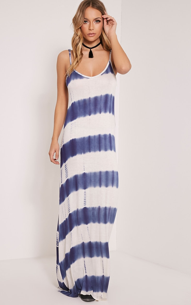 Ranita Blue Tie Dye Maxi Dress 1