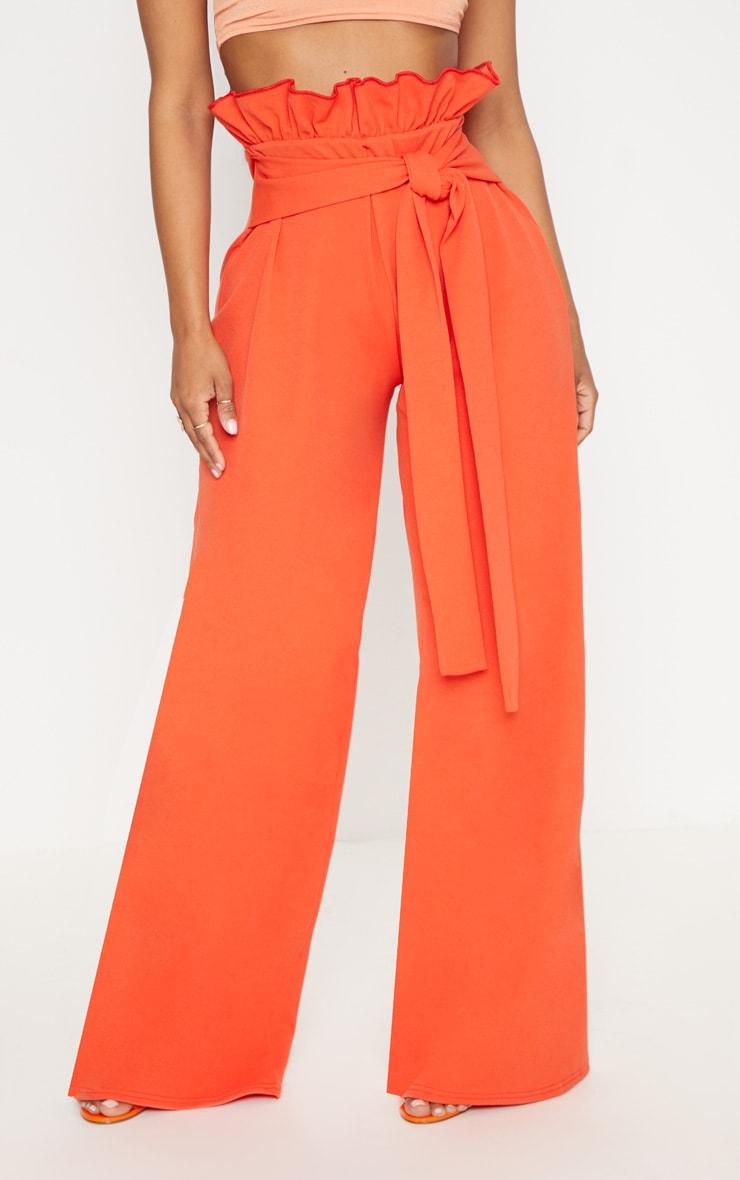 Shape Orange High Waist Paperbag Wide Leg Trousers 2
