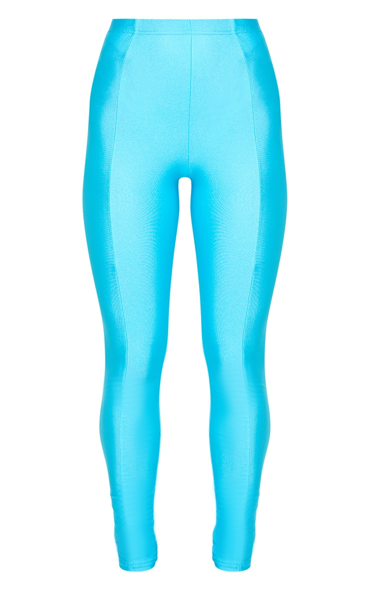 Blue Front Seam Disco Legging 3