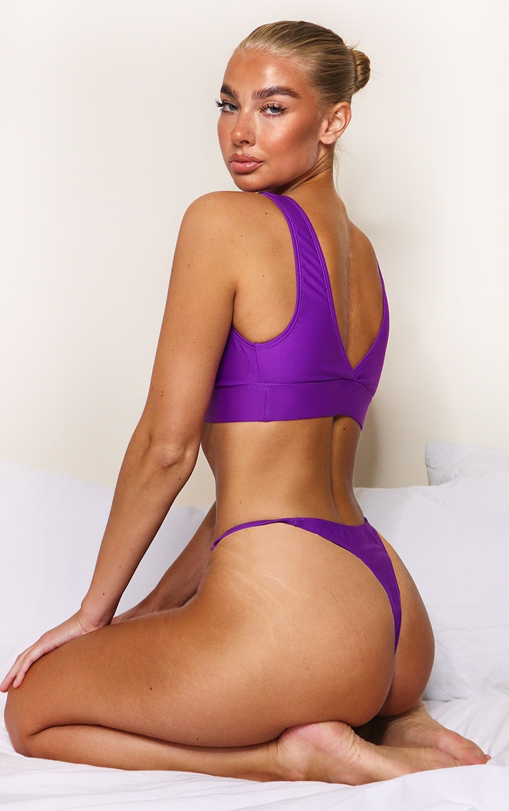 Purple Mix & Match String Thong Bikini Bottoms 2