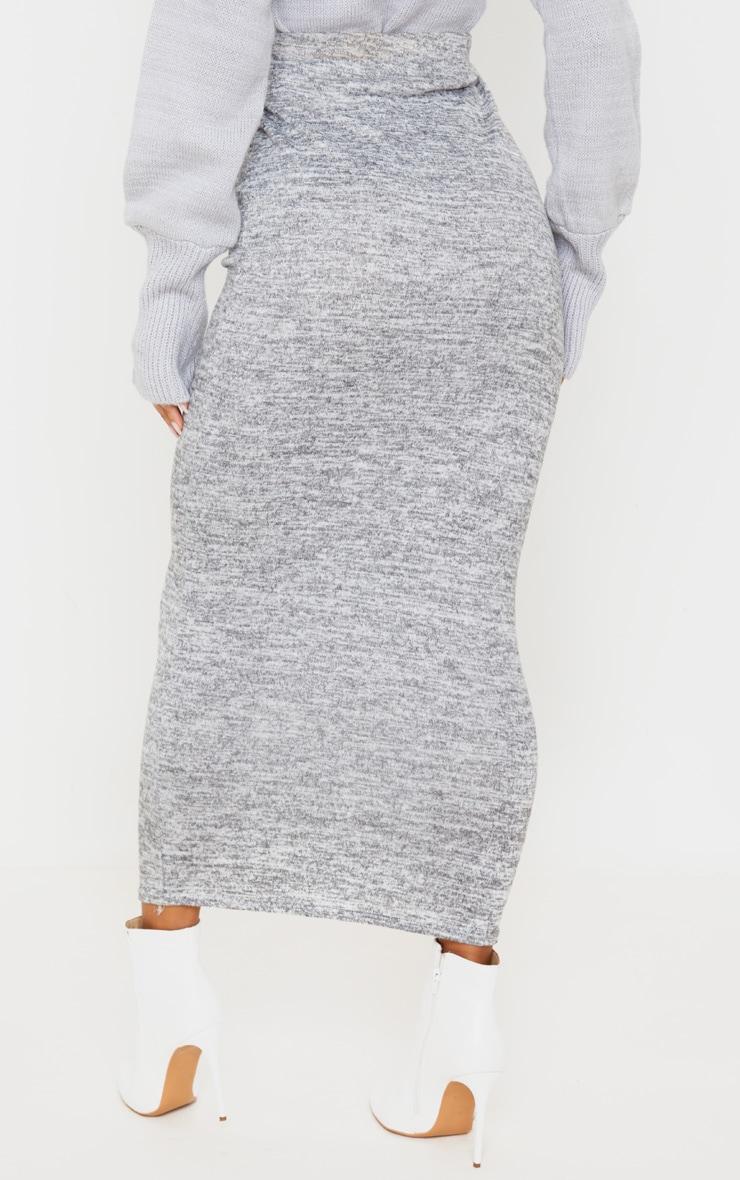 Grey Brushed Marl Maxi Skirt 4
