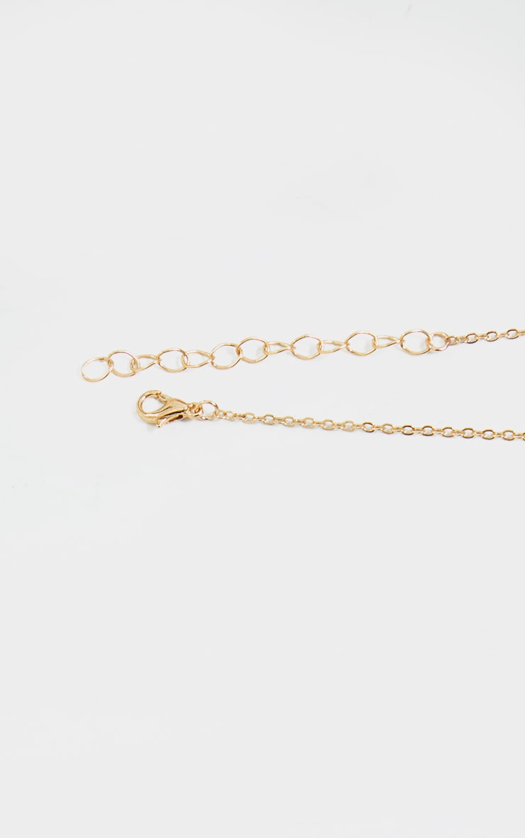 Gold Aries Star Sign Necklace 4