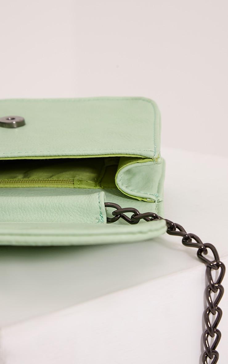 Emma Mint Quilted Chain Strap Shoulder Bag 6