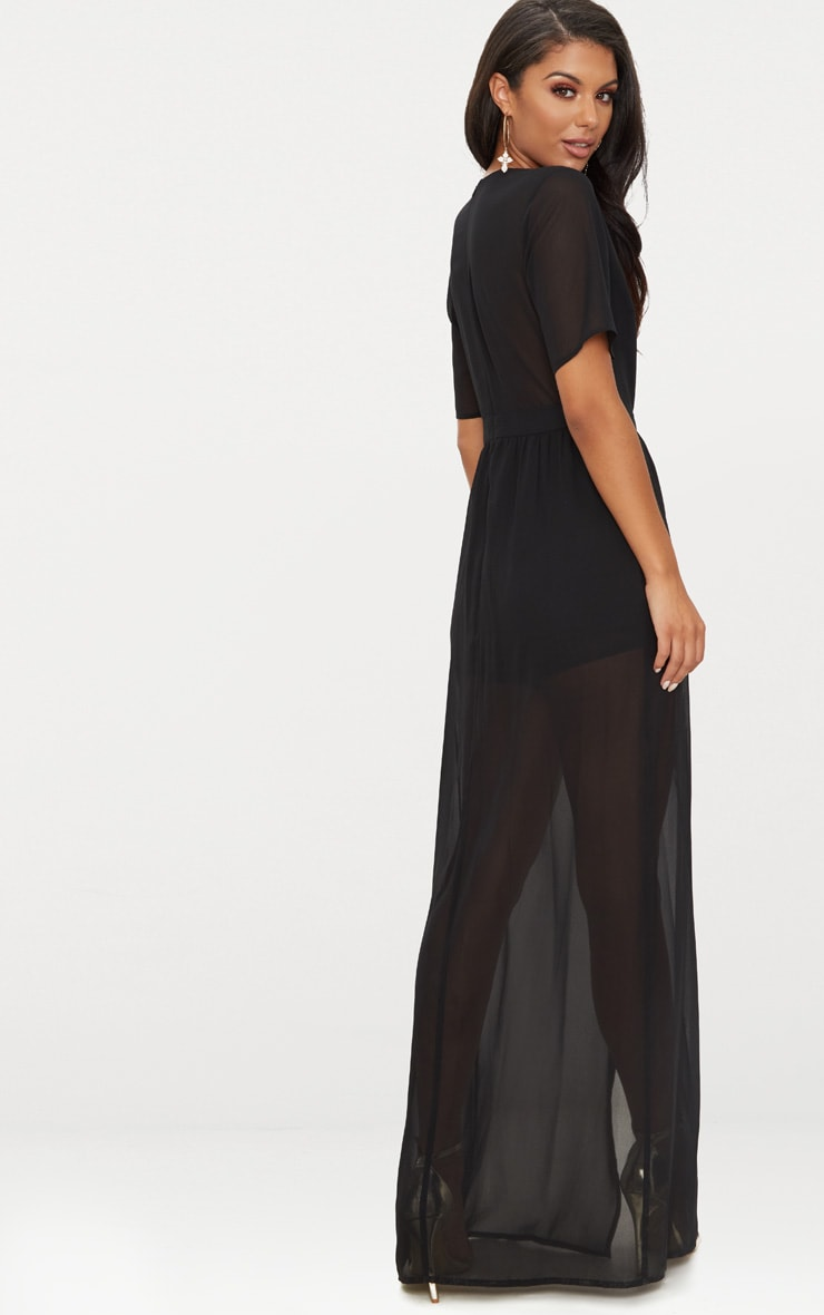 Black Maxi Overlay Playsuit 2