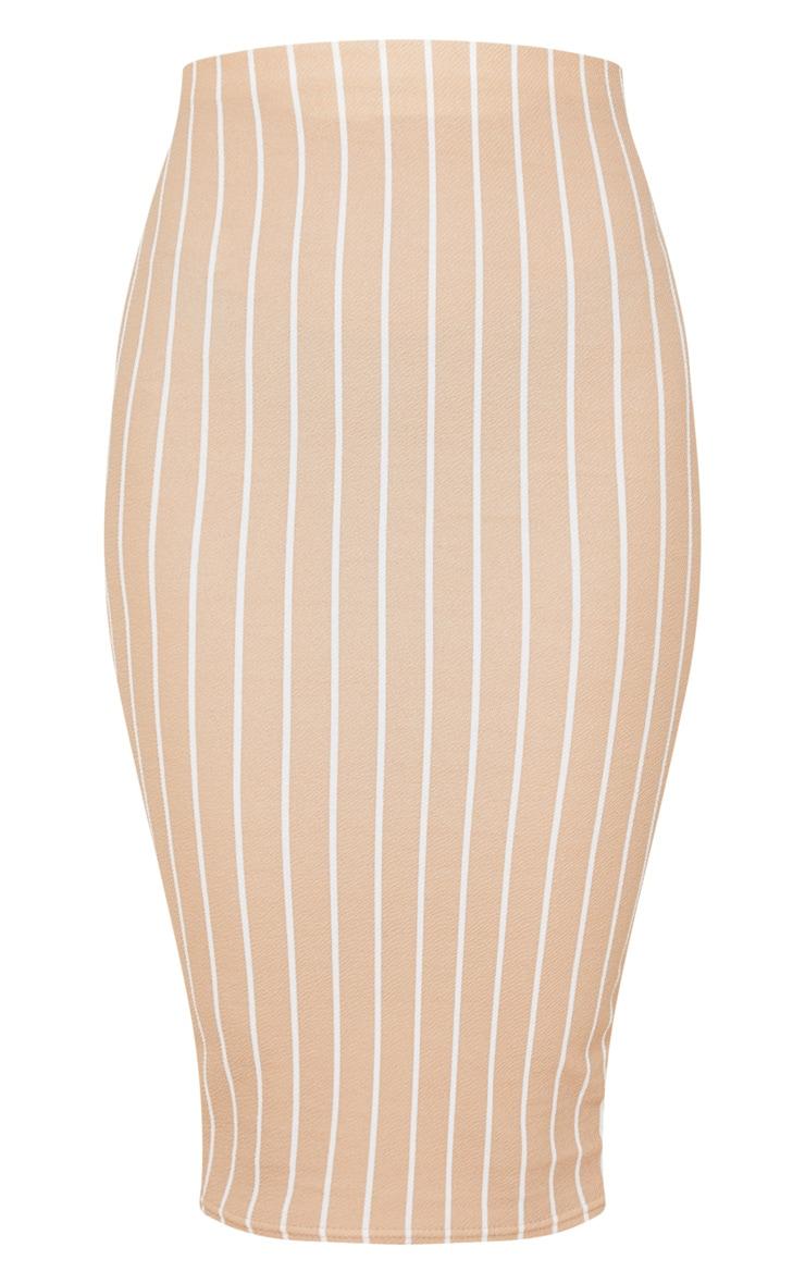 Stone Stripe Midi Skirt  3