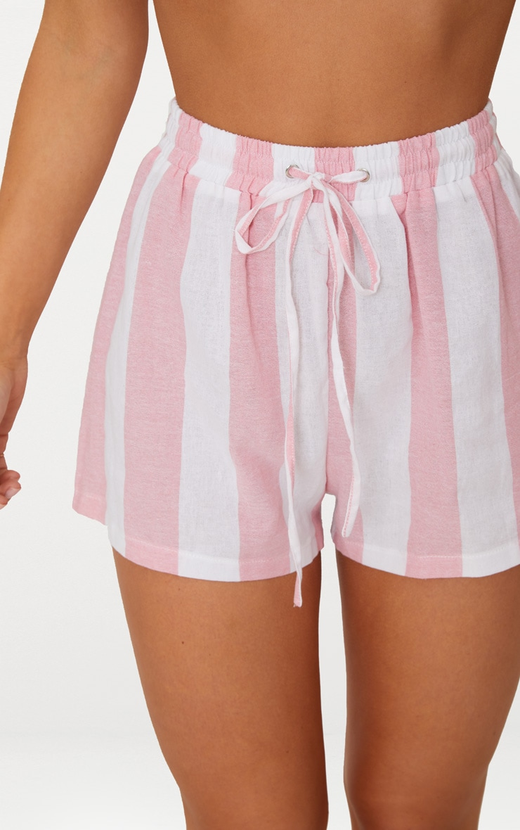 Pink Cotton Candy Stripe Shorts 6