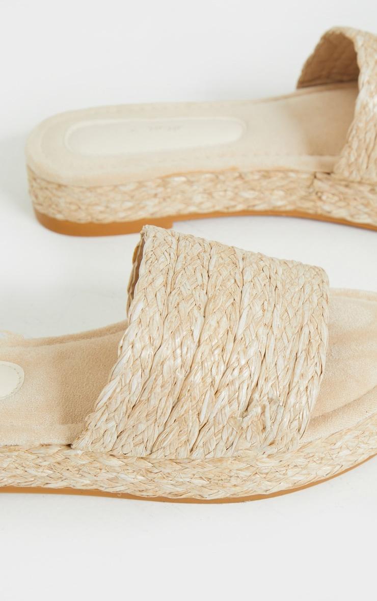 Natural Raffia Espadrille Mule Sandals 3