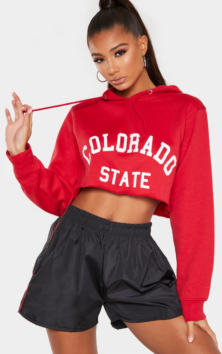 Scarlet Slogan Colorado Crop Hoodie 4