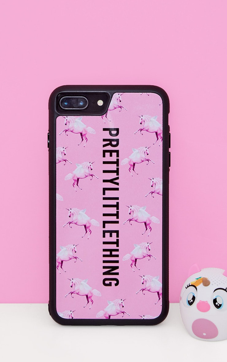 newest ef981 42530 PRETTYLITTLETHING Unicorn Pink iPhone 8 Plus Case