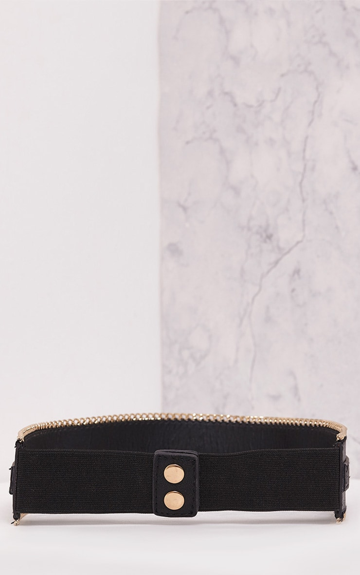 Caliah Black Chain Detail Belt 5