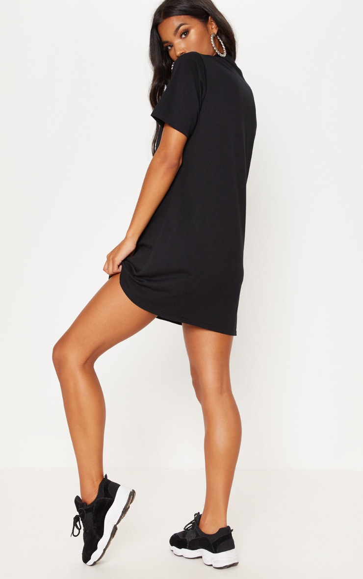 Black Polo Shirt Dress 2