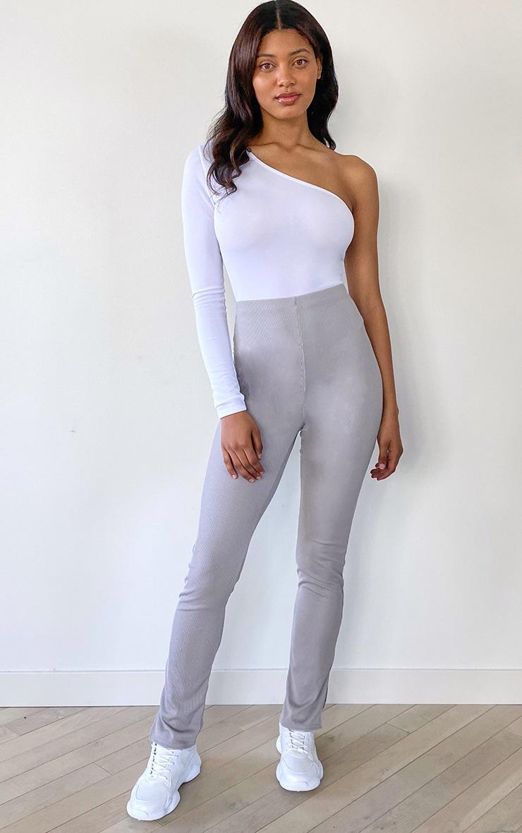 Tall Grey Skinny Split Hem Pants 1