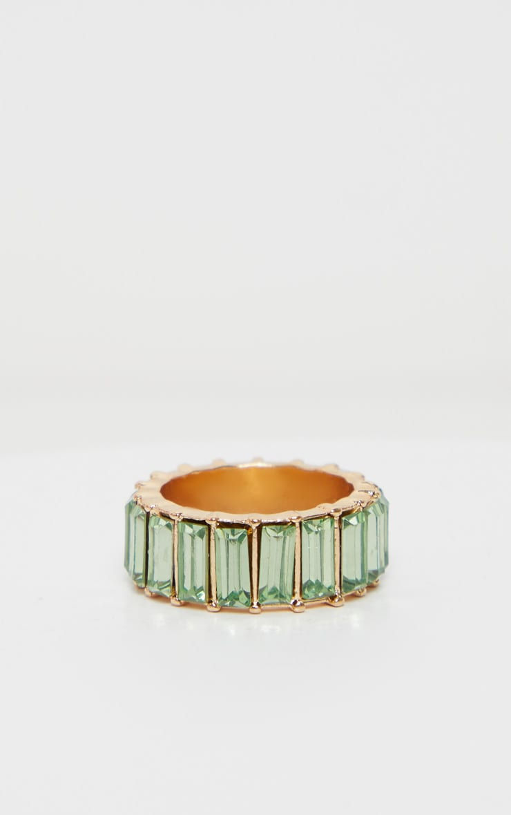 Pastel Green Eternity Band Ring 3