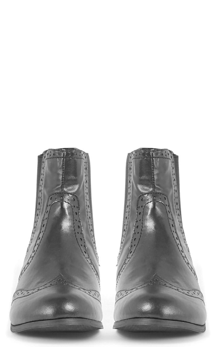 Glenna Black Chelsea Boot  2