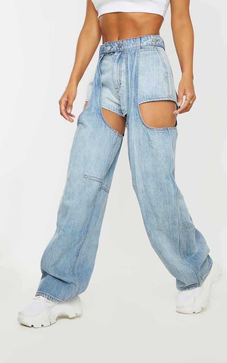 Vintage Wash Chap Jeans 2