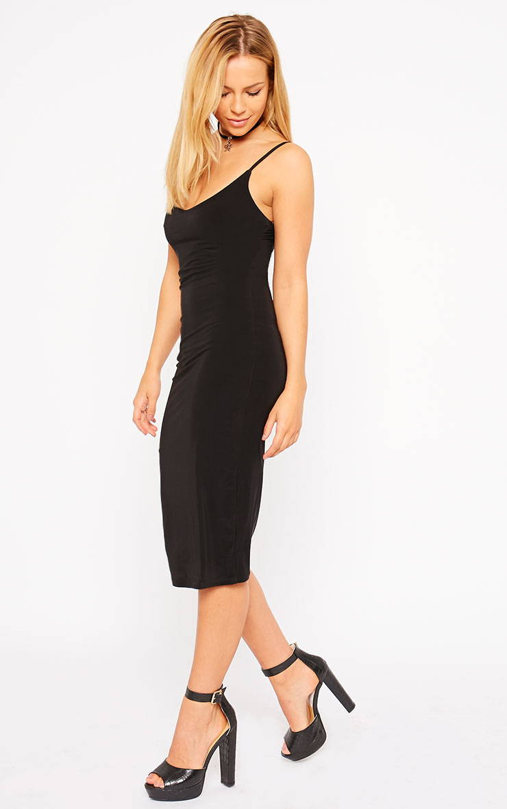 Harpe Black Slinky Midi Dress 4