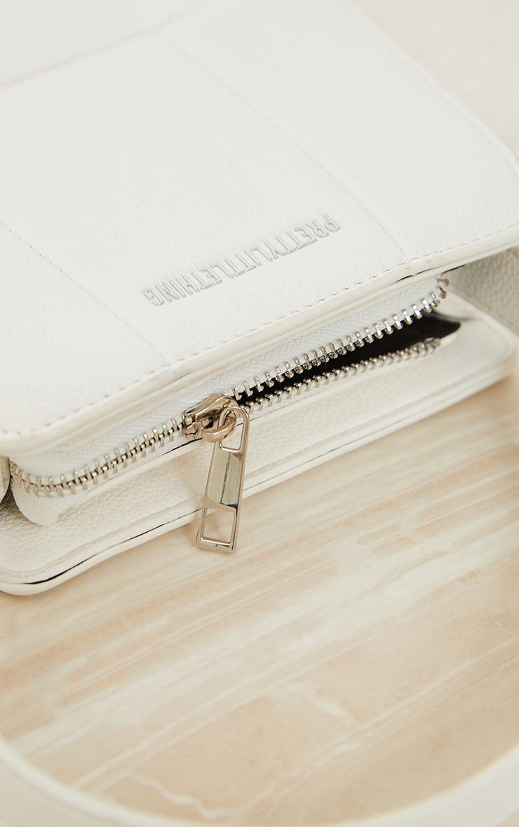 PRETTYLITTLETHING White Triangular Shoulder Bag 4
