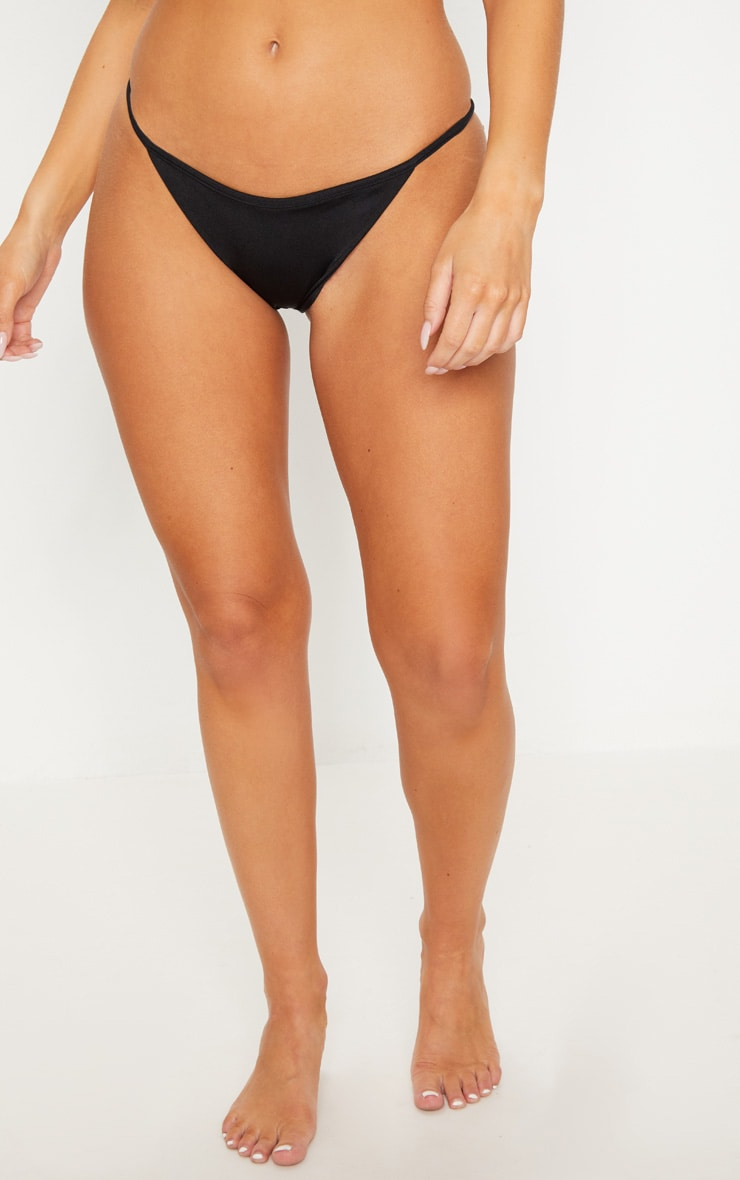 Black Mix & Match Itsy Bitsy Bikini Bottom 2