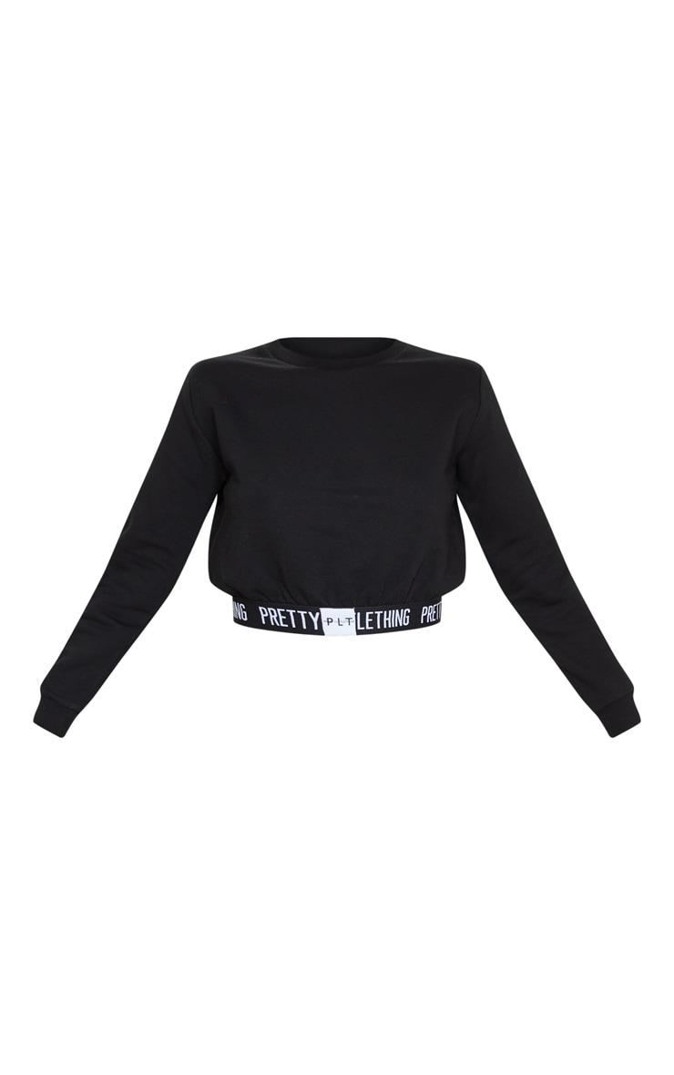 PRETTYLITTLETHING Black Lounge Sweatshirt 3