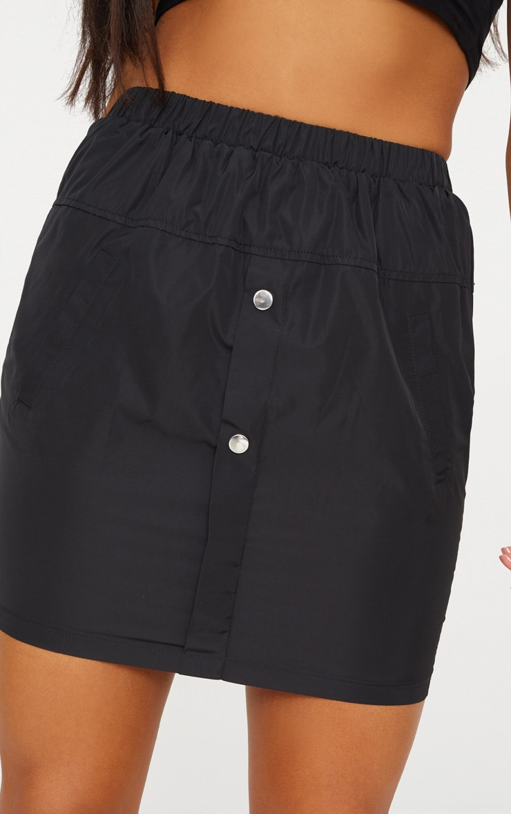 Black Shell Suit Mini Skirt 6