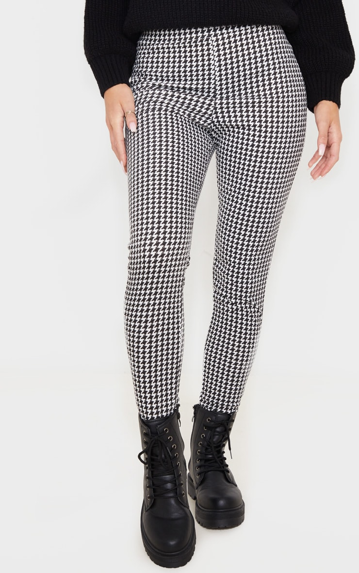 Dogtooth Checked Ponte Legging 2