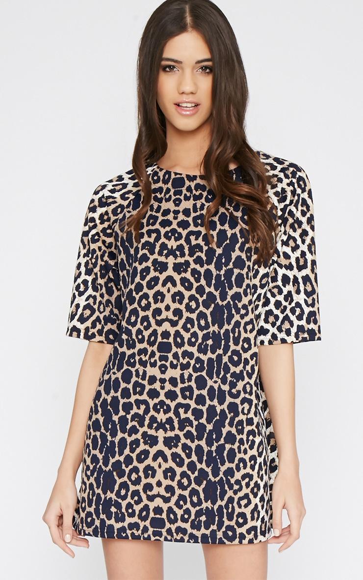 Chepi Leopard Shift Dress 1