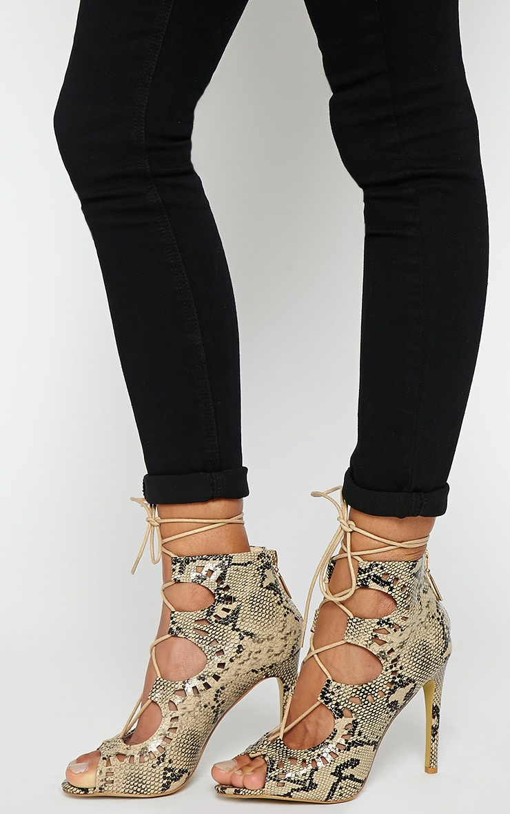 Xylia Snake Cut Out Detail Heels 3