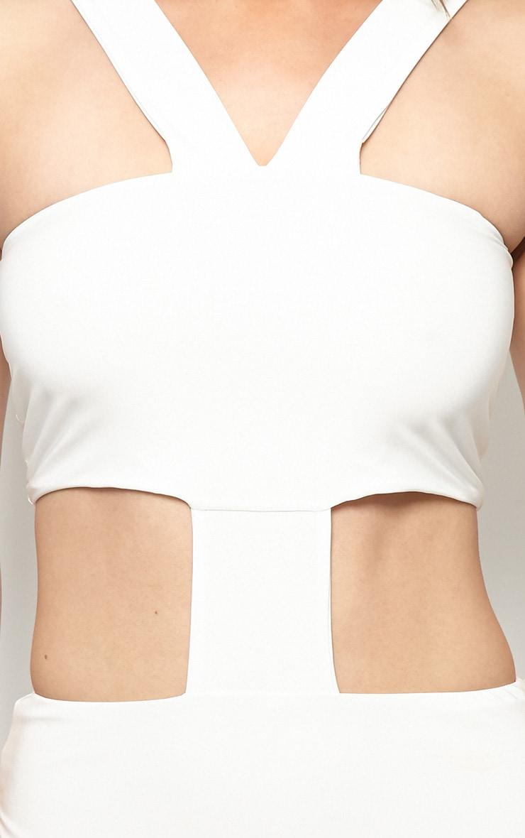 Gianni White Cut Out Bodycon Dress 5
