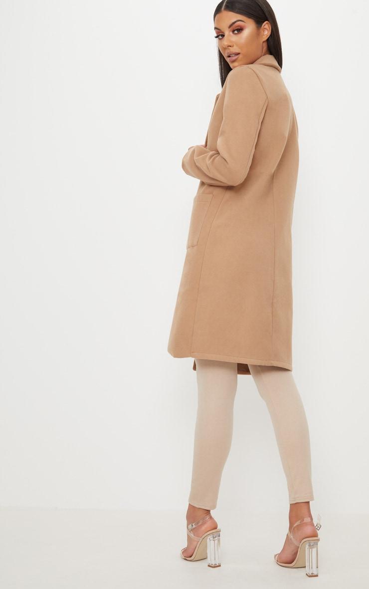 Beige Pocket Front Coat  2