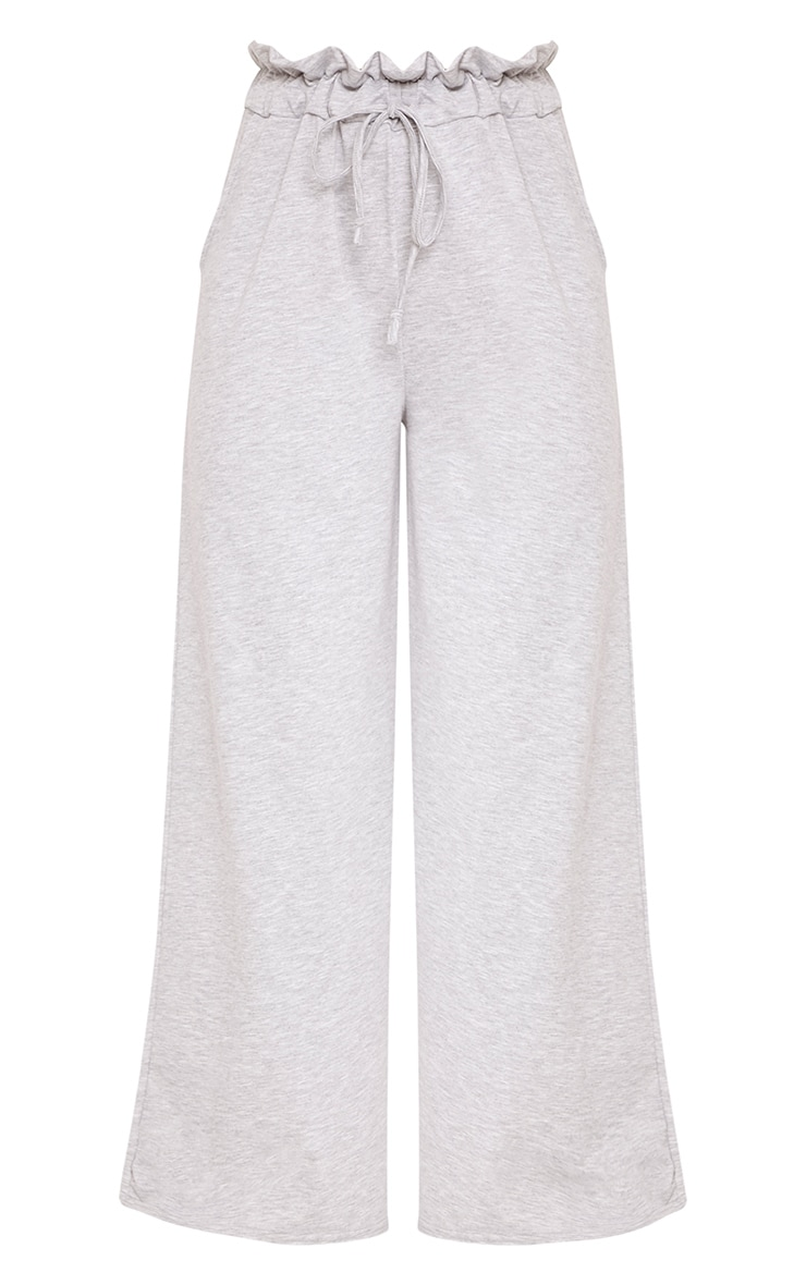 Jessey Grey Paperbag Wide Leg Trousers 3