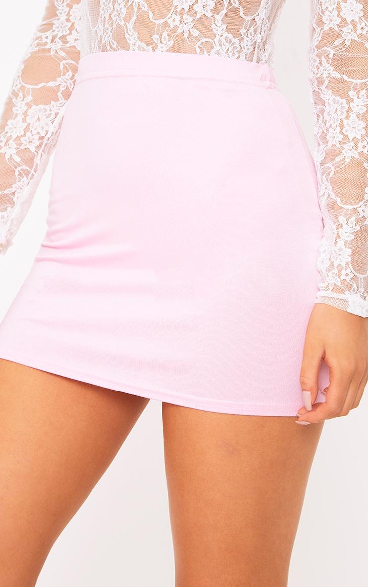 Baby Pink Basic Mini Skirt 6