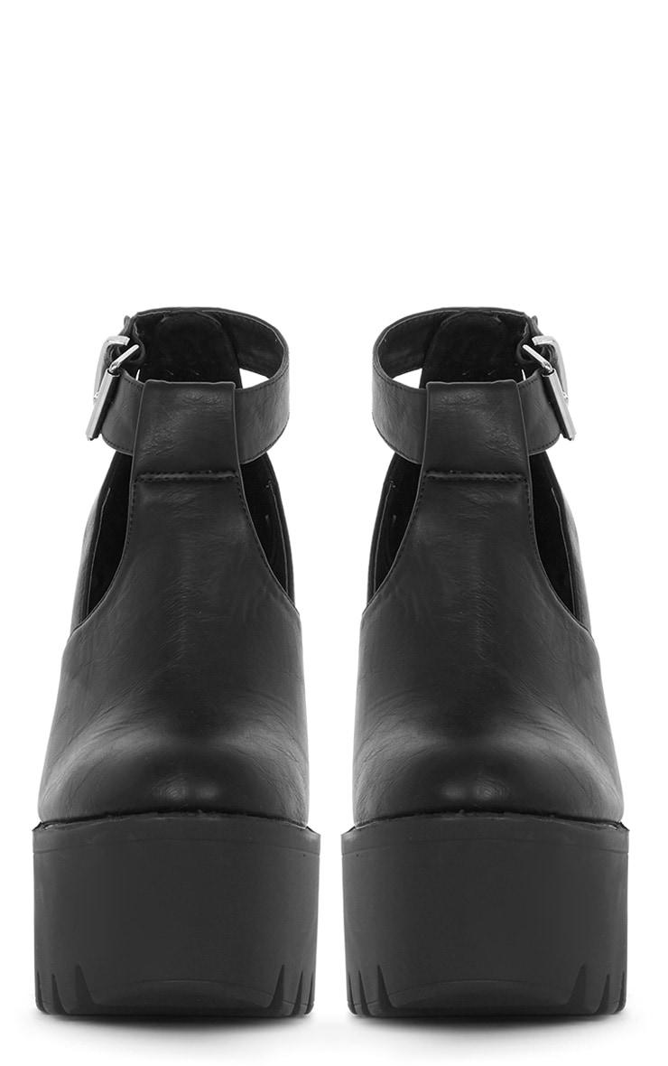 Felicia Black Chunky Heel Ankle Strap Sandal 3