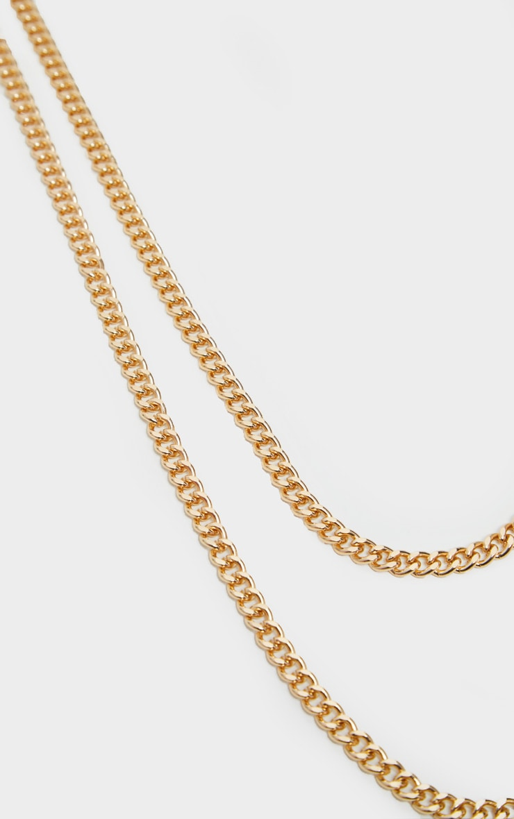 Gold Double Layer Plain Chain Belt 4