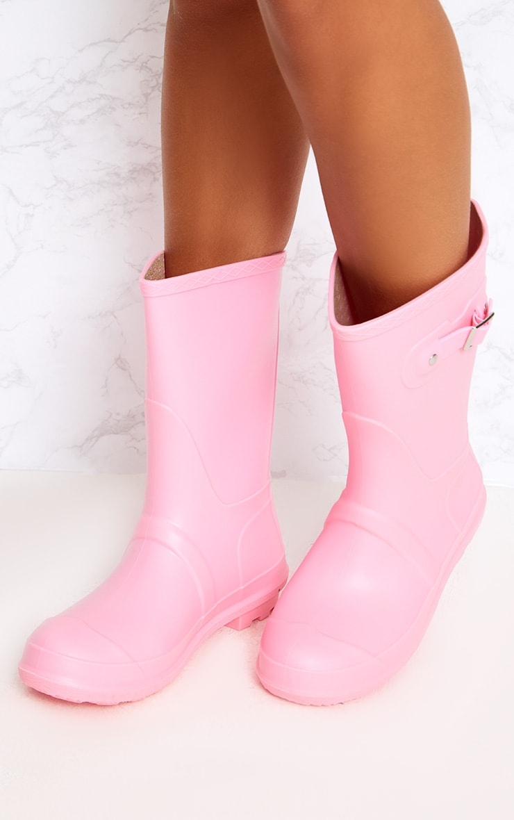 Baby Pink Short Wellies 2