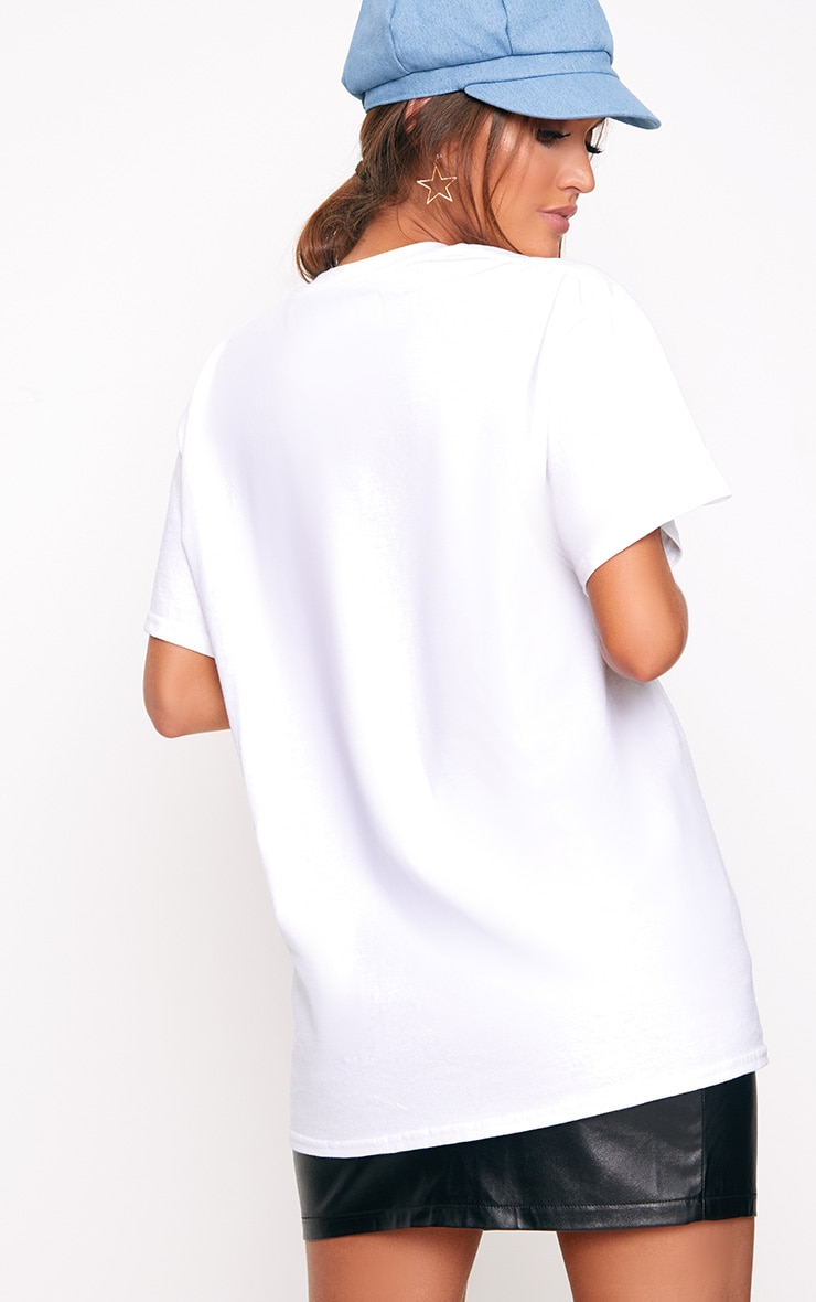 White Iconic Slogan T Shirt 2