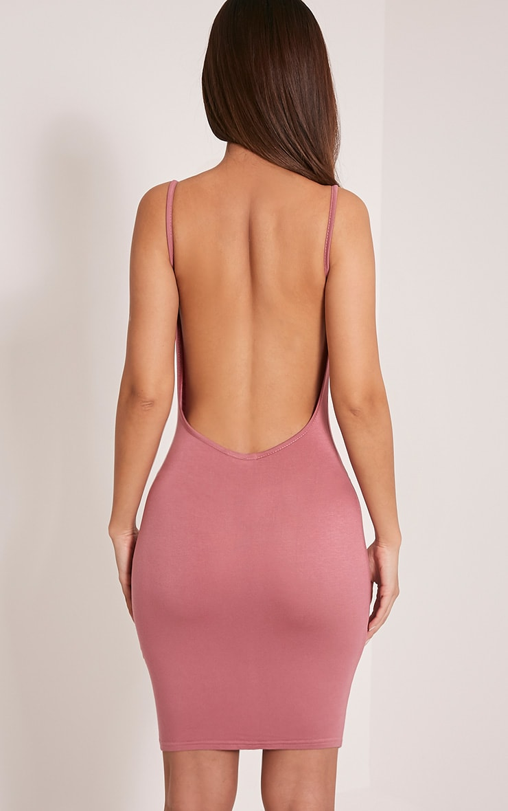 Natallia Rose Scoop Back Dress 2