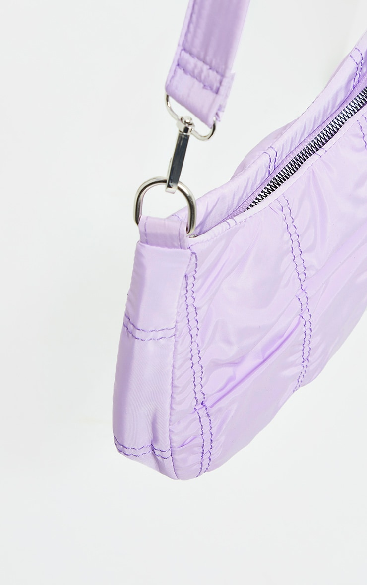Lilac Small Ruched Shoulder Bag 2