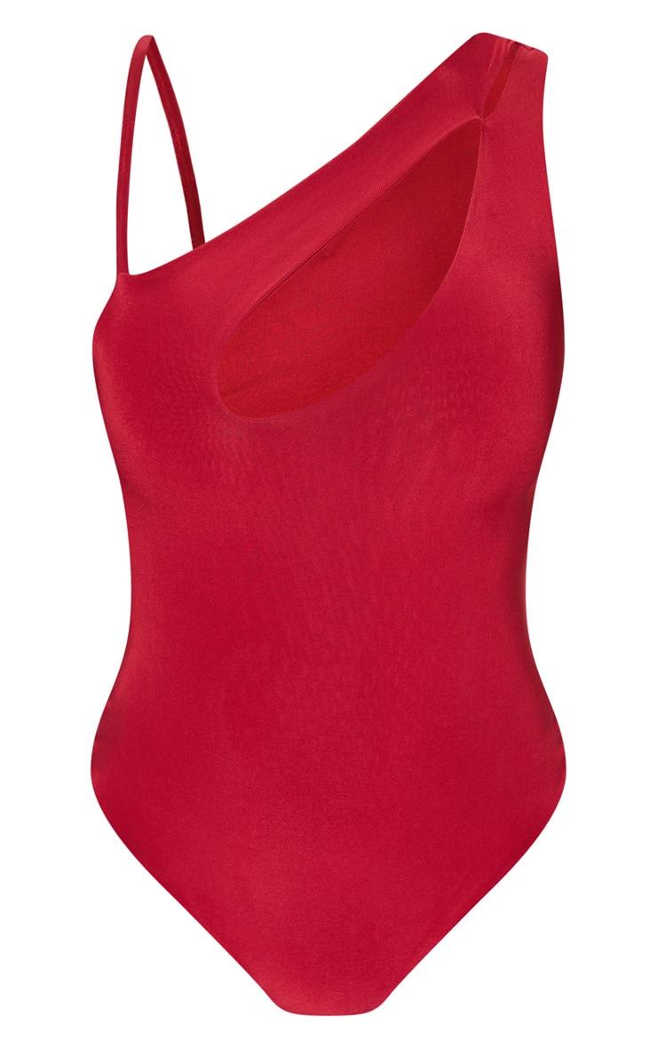 Scarlet Slinky Front Slit Bodysuit 3