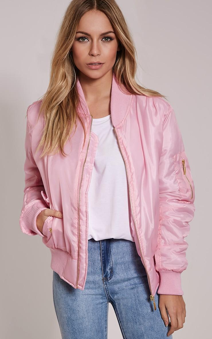 Alexus Pink Bomber Jacket 1